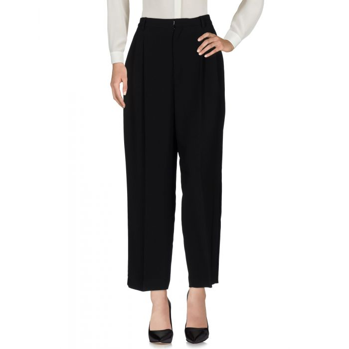 Image for Black rayon casual trousers