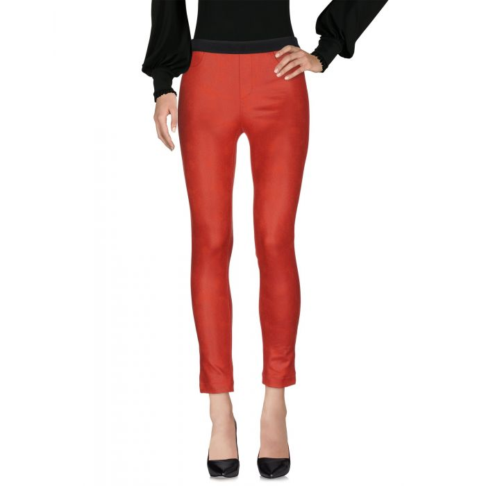 Image for Red mid-rise trousers