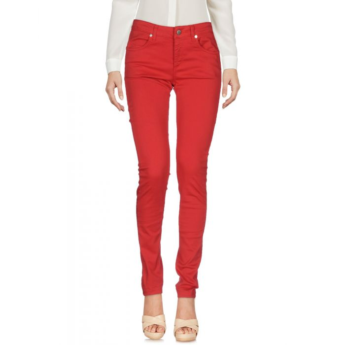 Image for Red cotton casual trousers