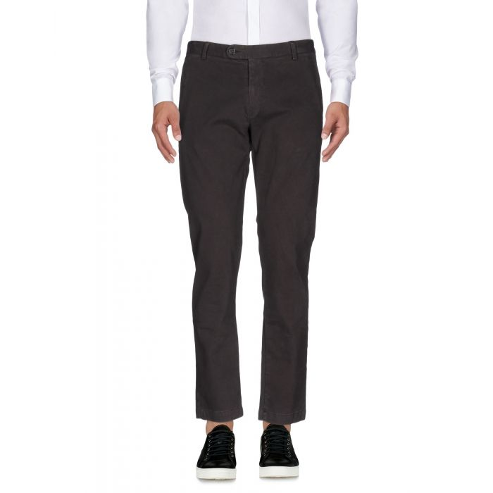 Image for Grey mid-rise straight-leg stretch-cotton trousers