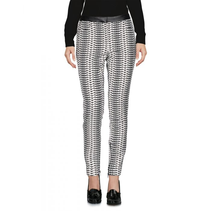 Image for White mid-rise trousers