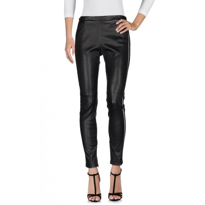Image for Black leather leggings