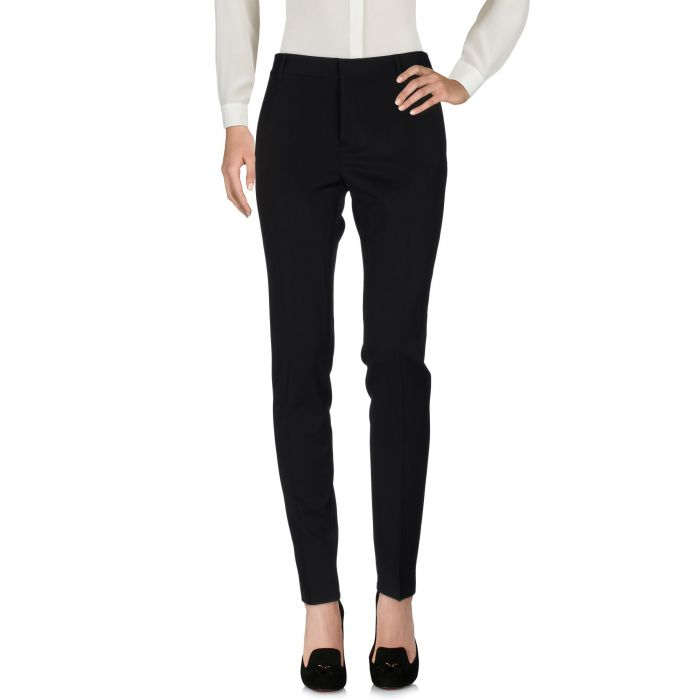 Image for Black wool blend trousers
