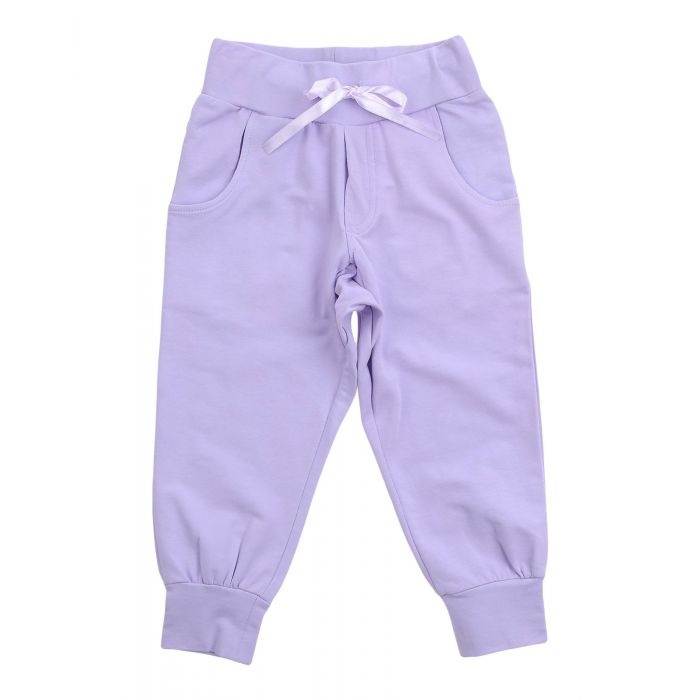 Image for Lilac cotton casual trousers