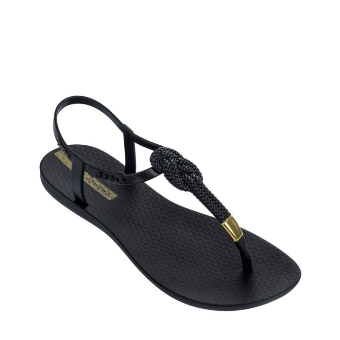 Image for Glam Nautical black sandals