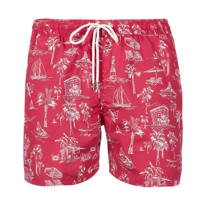 Image for Hublot red toile de jouy swimming shorts