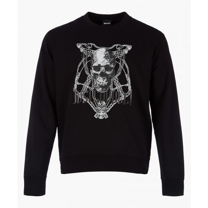 Image for Black skull printed sweatshirt