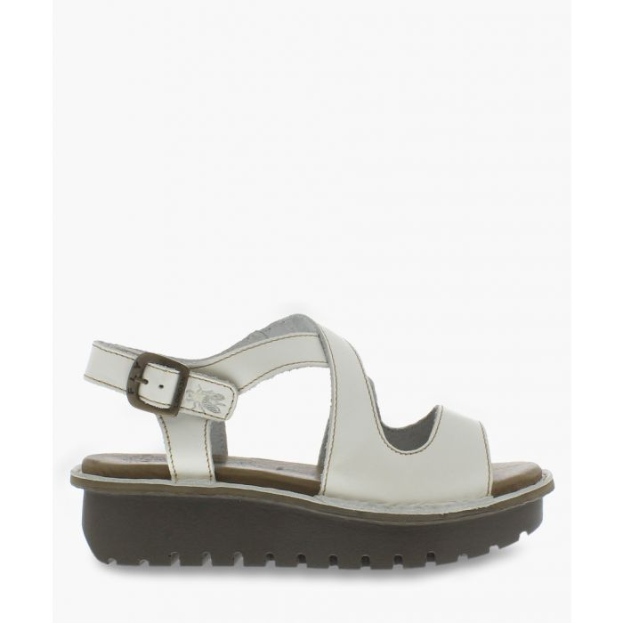 Image for Off-white leather strap sandals