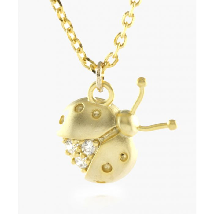 Image for Bedazzling Ladybird 14k gold-plated necklace