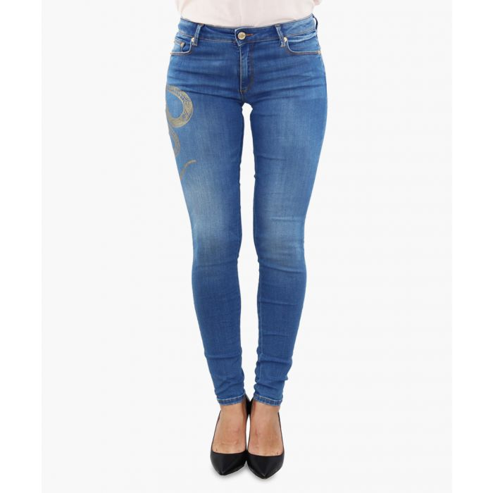 Image for mid wash cotton skinny jeans