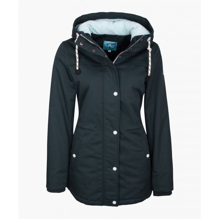 Image for Dark green hooded jacket