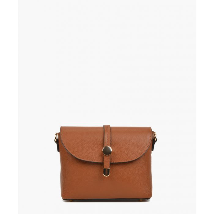 Image for Cognac leather shoulder bag