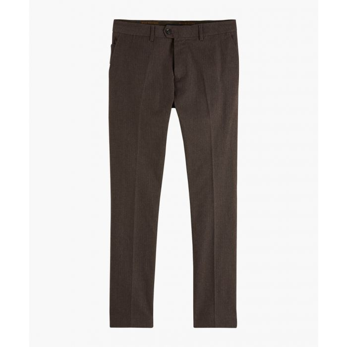 Image for Stuart brown melage cotton-blend chino trousers