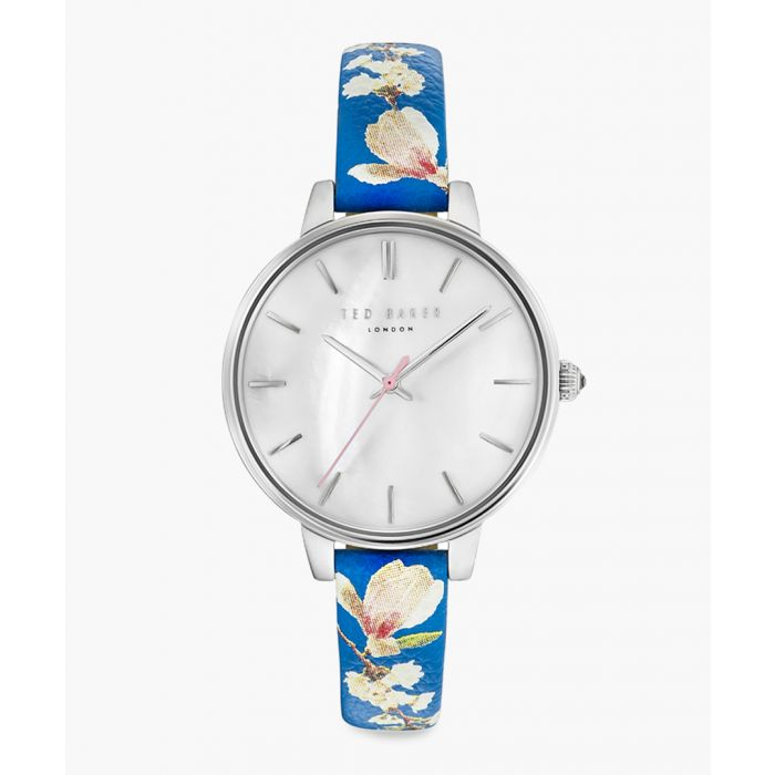 Image for Kate blue leather and stainless steel watch