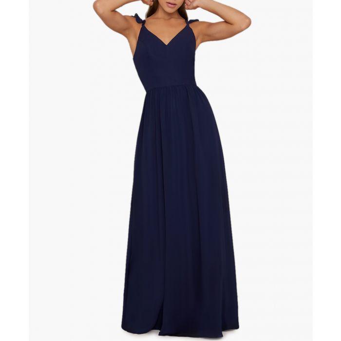Image for Katrine navy maxi dress