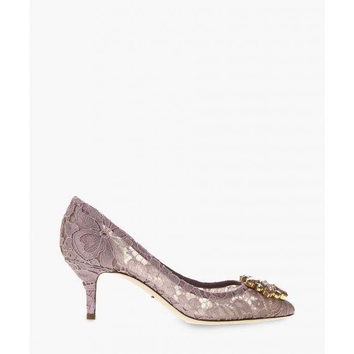 Image for Belluci purple Taormina lace and crystal pumps