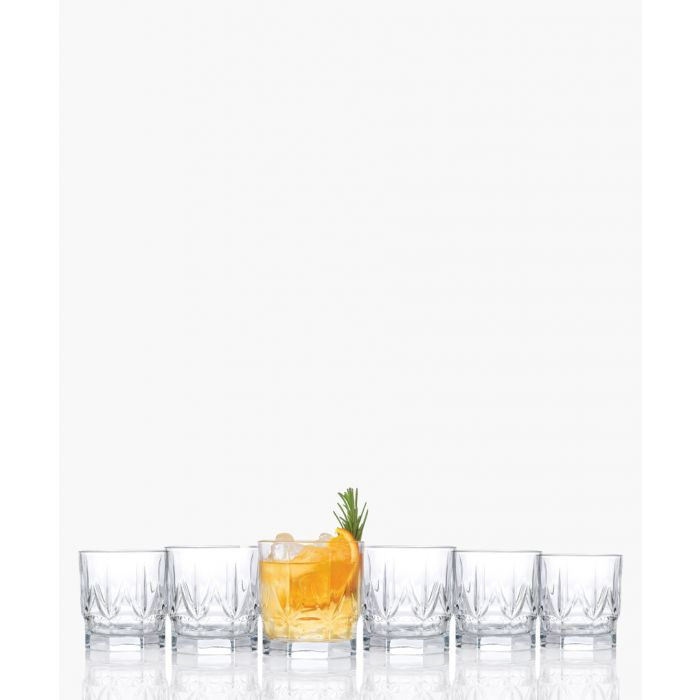 Image for 6pc Chic Luxion Crystal whisky tumbler glasses 350ml