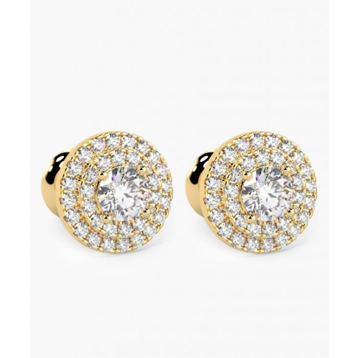 Image for 9k yellow gold and 0.60ct diamond earrings
