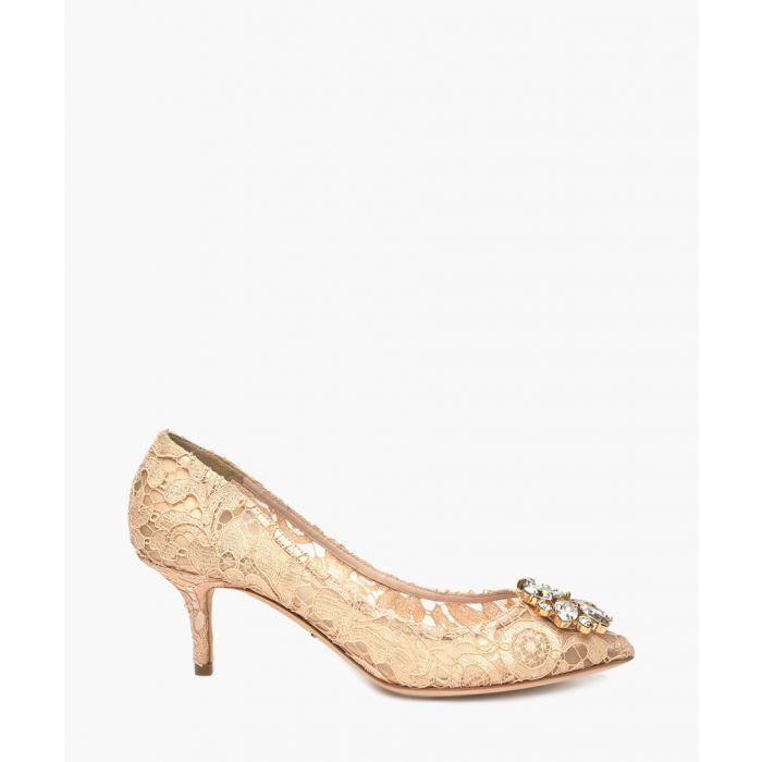 Image for Belluci pink Taormina lace embellished pumps