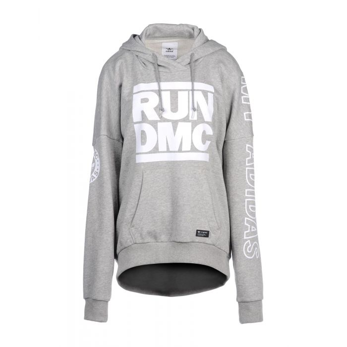 Image for x Run DMC grey cotton blend hoodie