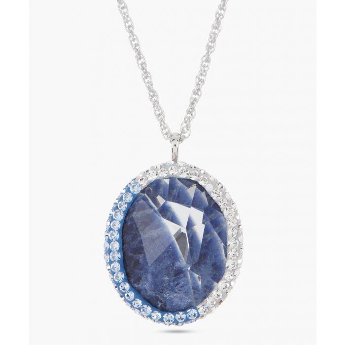 Image for Lapis blue swarovski crystal necklace