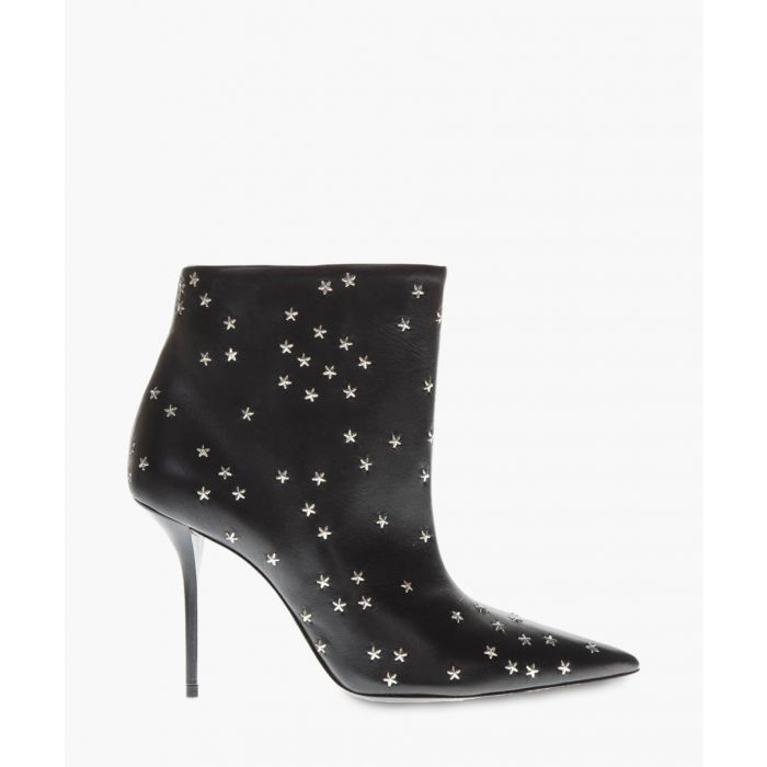 Image for Pierre star-embellished 95 black leather boots