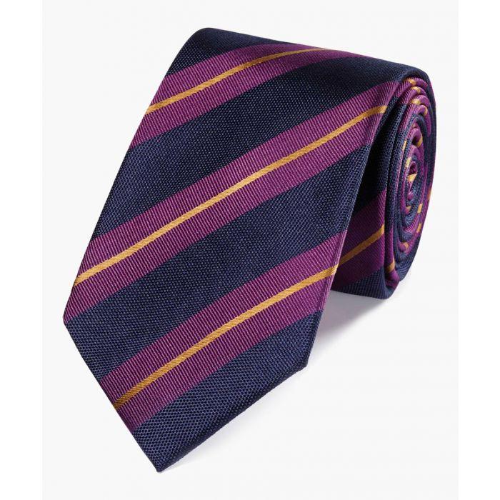 Image for Multi-coloured pure silk striped classic tie