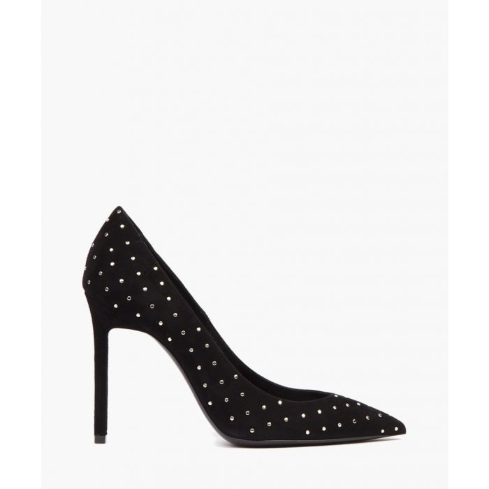 Image for Black suede stud pumps