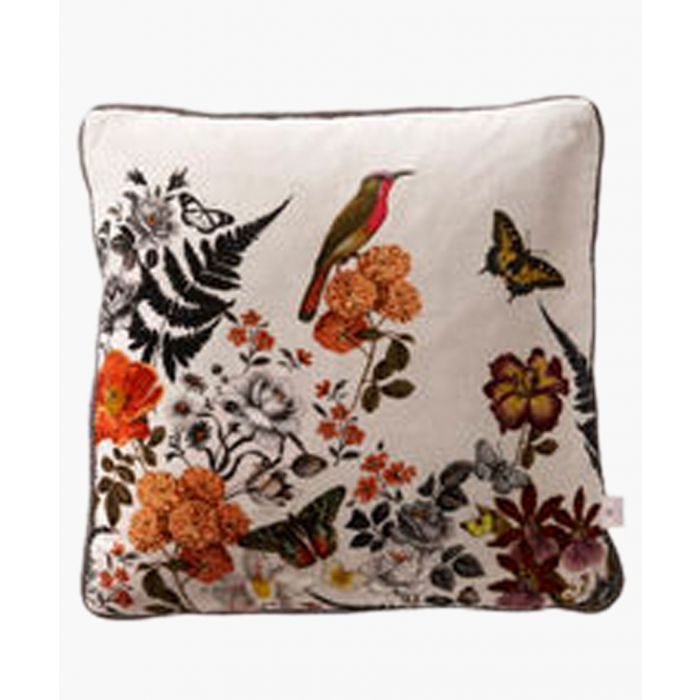 Image for Botanical floral printed cushion 43cm