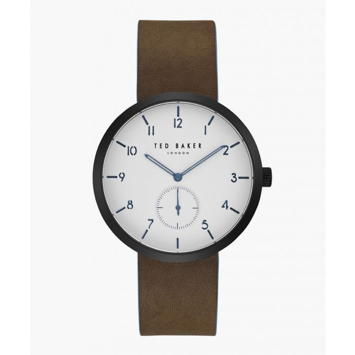 Image for Josh brown leather and stainless steel watch