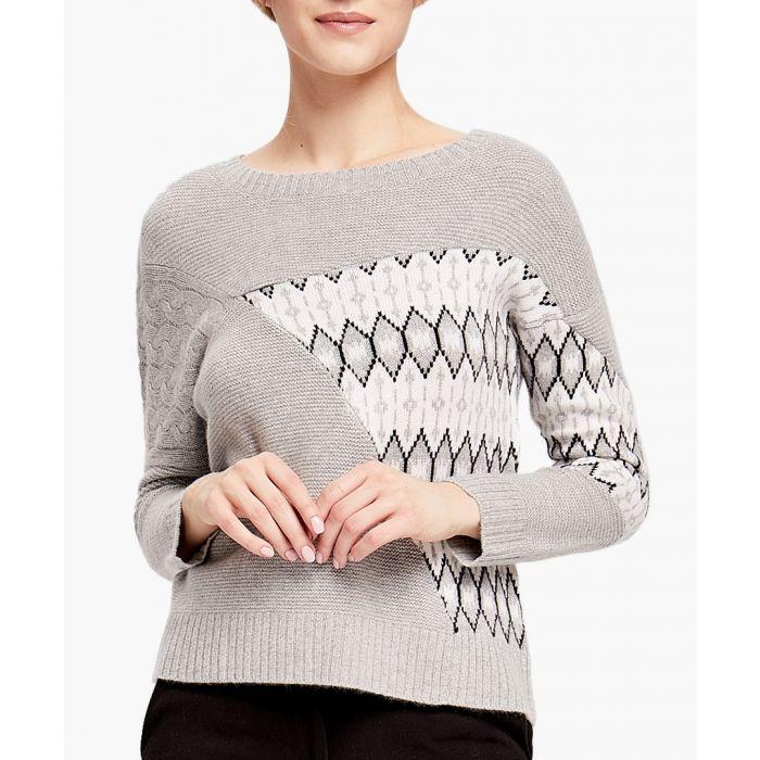 Image for Grey Pure Cashmere Patterned Jumper
