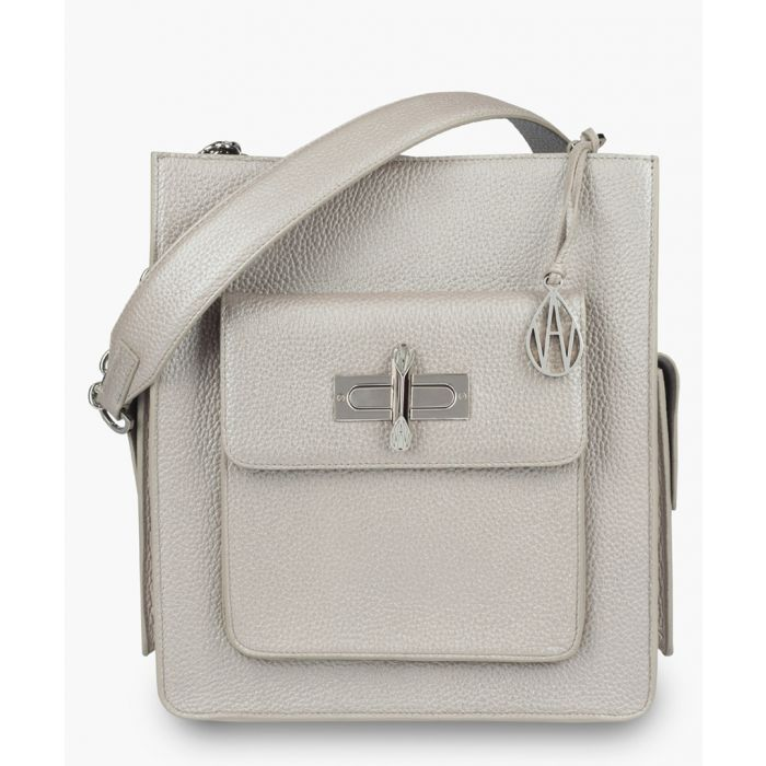 Image for James silver-tone leather crossbody