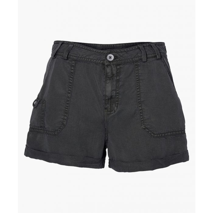 Image for Drapey asphalt black shorts