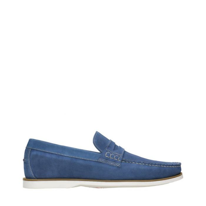 Image for Navy blue loafers