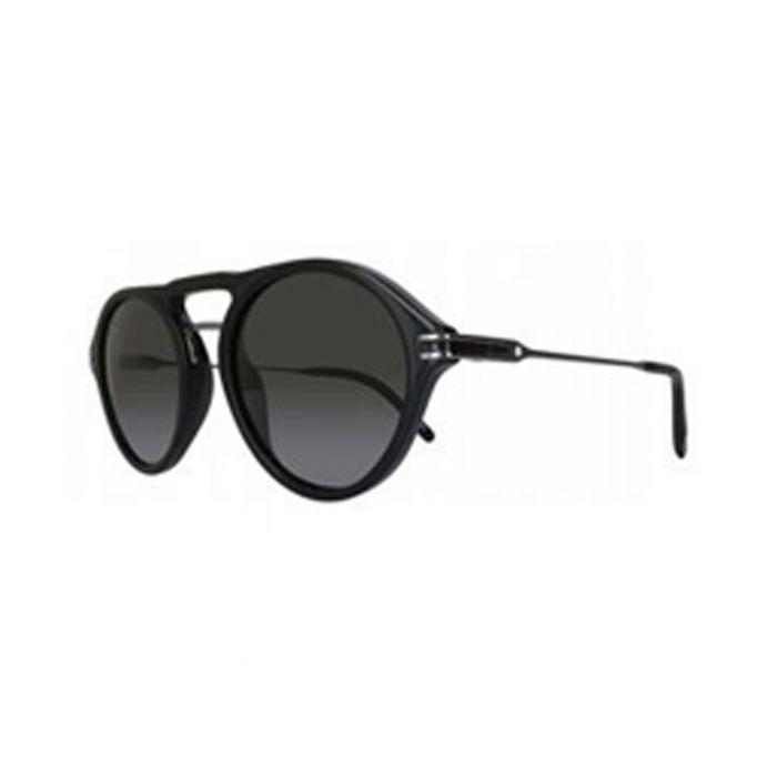 Image for Black rounded double-bridge sunglasses