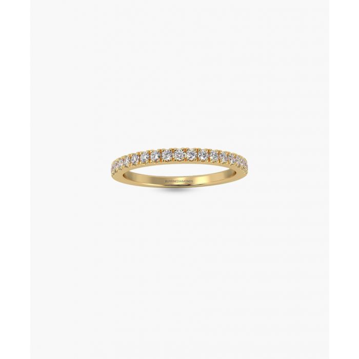 Image for 9k yellow gold half eternity ring