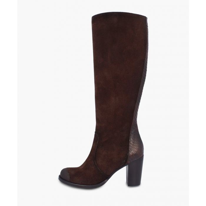 Image for Maroon knee-high boots