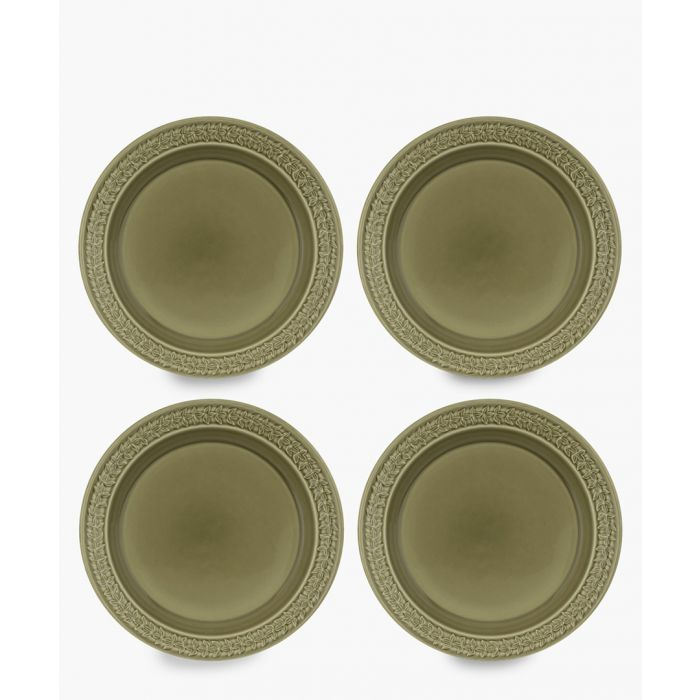 Image for 4pc Botanic Garden Harmony moss green plate set