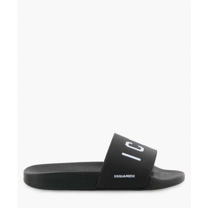 Image for Icon black rubber slides