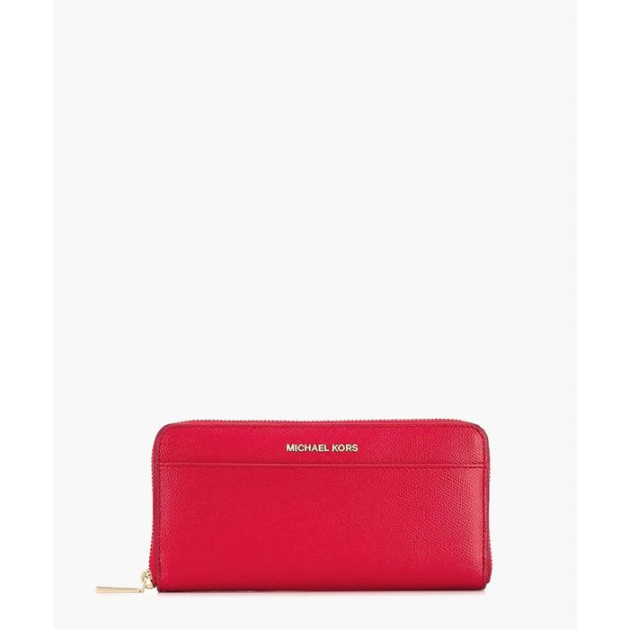 Image for Jet Set bright red leather wallet