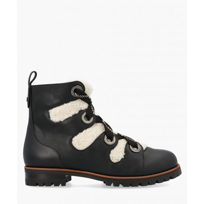 Image for Bei leather and shearling ankle boots