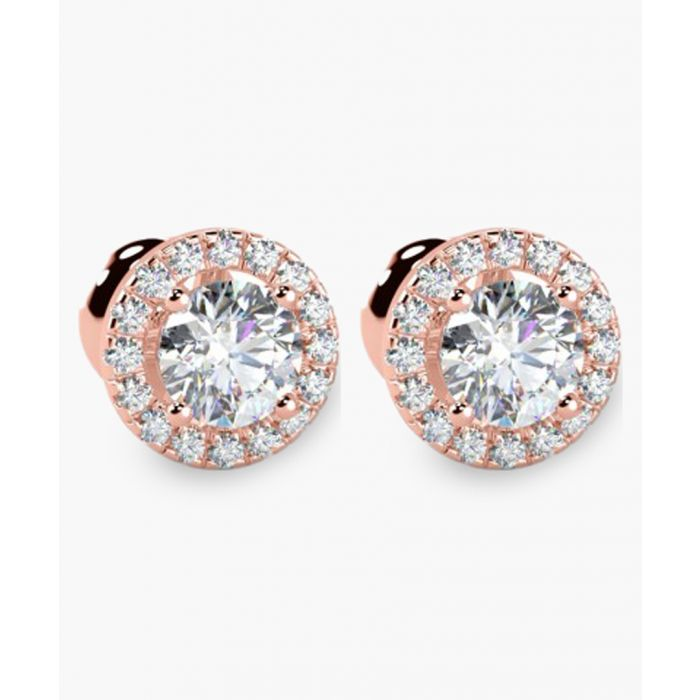 Image for 18k rose gold and 0.40ct diamond stud earrings