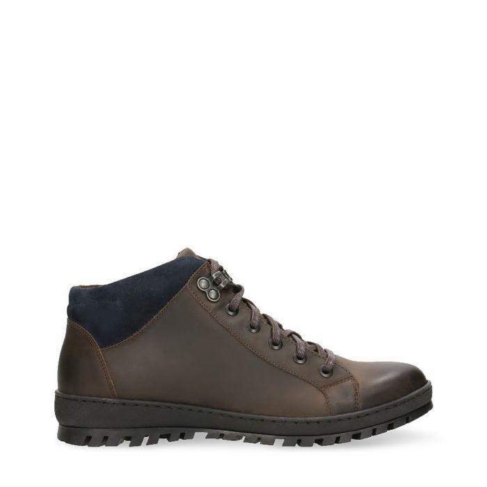 Image for Dark brown & navy blue contrast sneakers