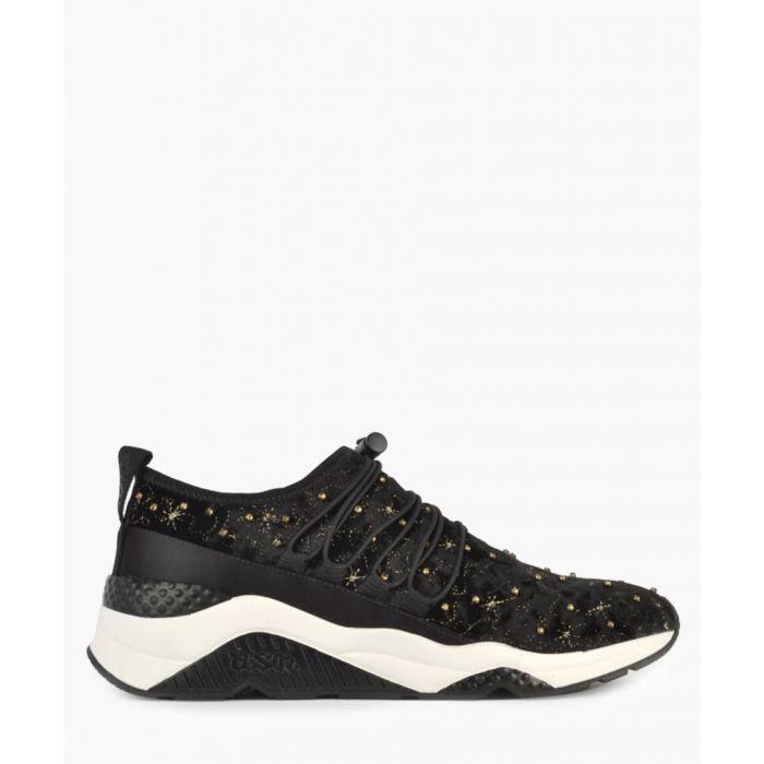 Image for Womens Misstic black velvet sneakers