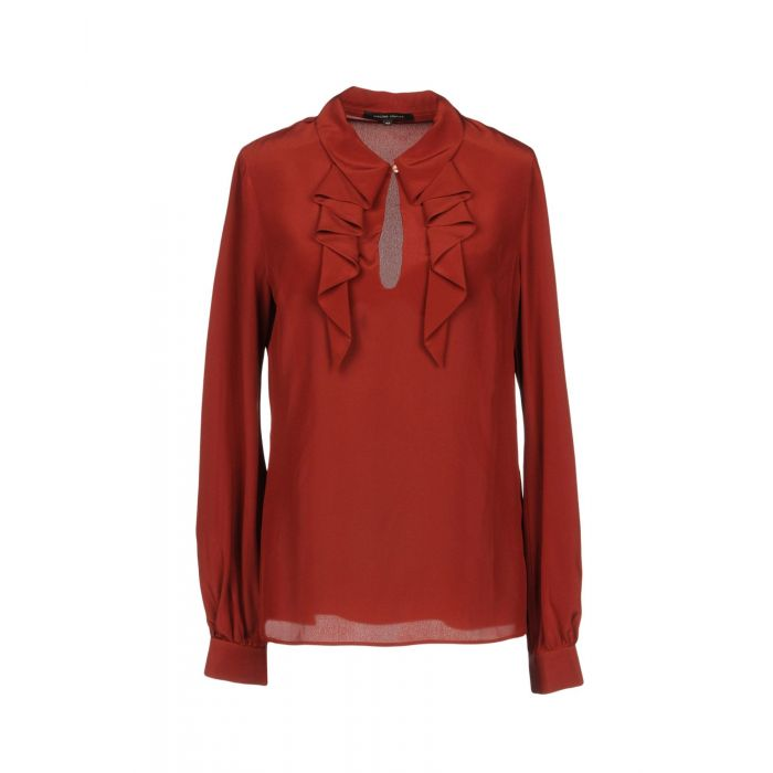 Image for Rust pure silk blouse