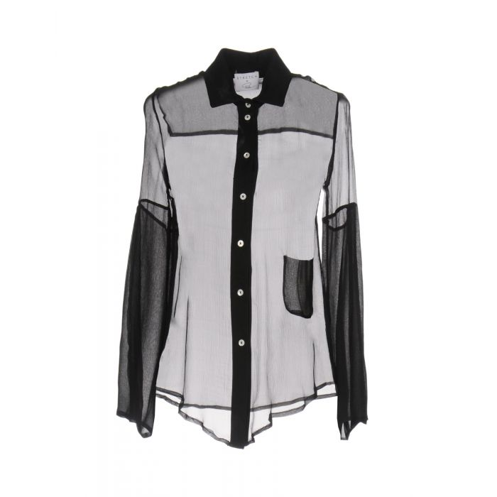 Image for Black pure silk shirt