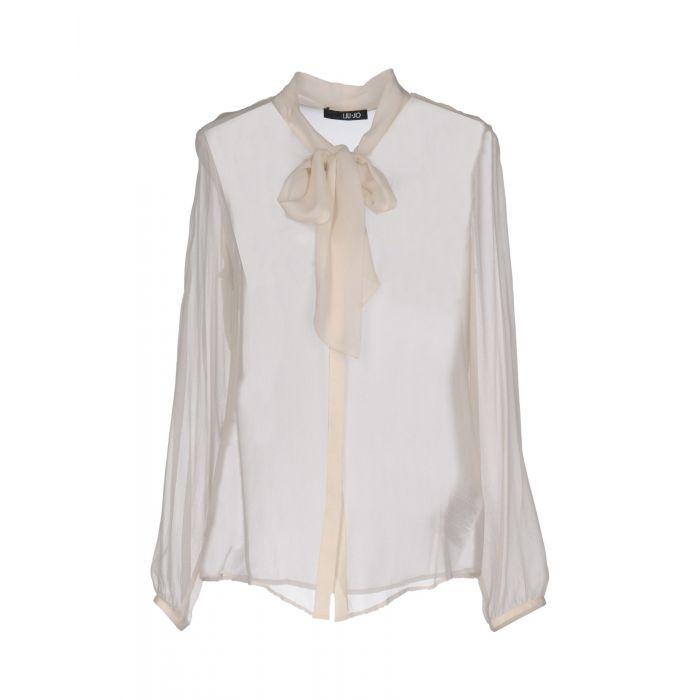 Image for Beige silk shirt