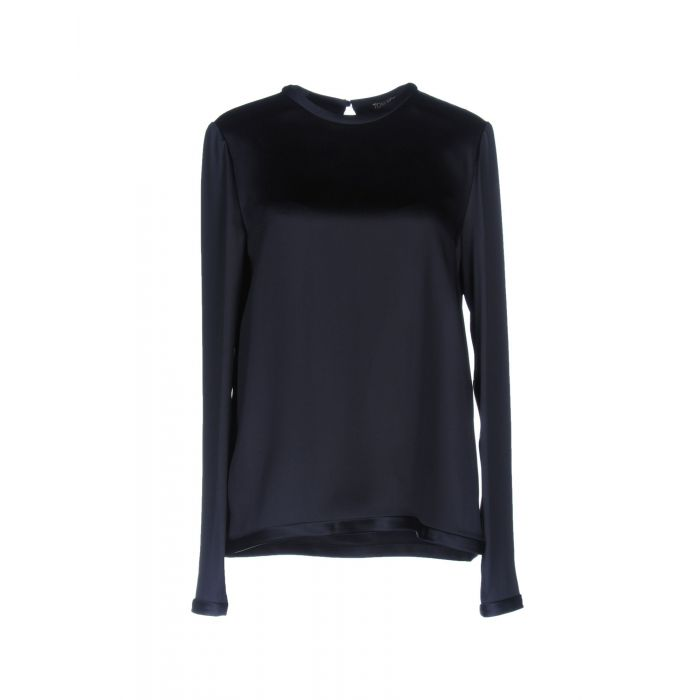 Image for Dark blue acetate blouse