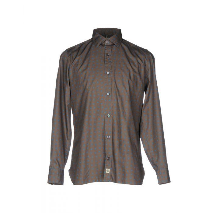 Image for Grey pure cotton polka dot shirt