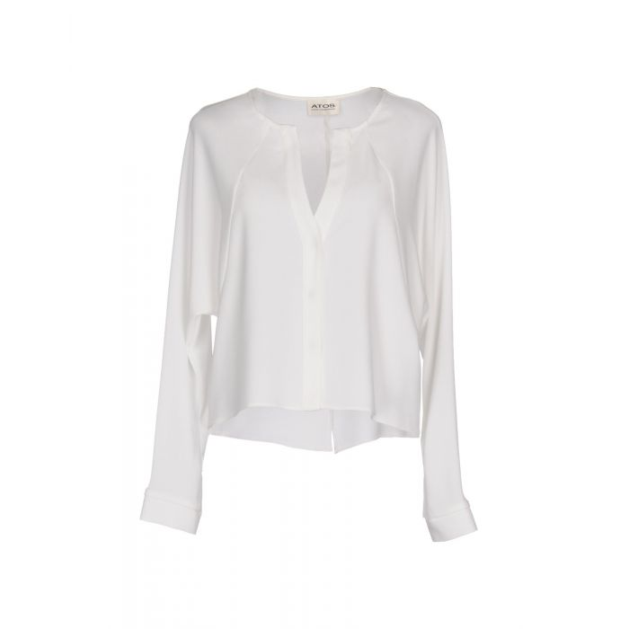 Image for White collarless shirt